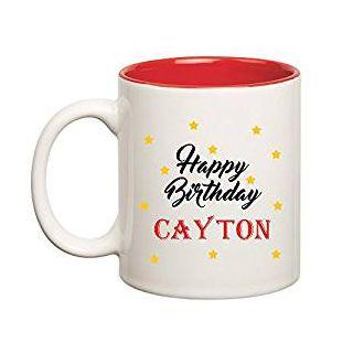 Huppme Happy Birthday Cayton Inner Red Mug