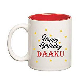 Huppme Happy Birthday Daaku Inner Red Mug