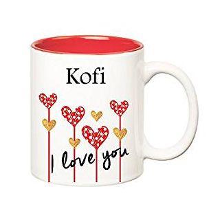 Huppme I Love You Kofi Inner Red Ceramic Mug (350 ml)
