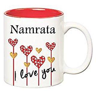Huppme I Love You Namrata Inner Red Ceramic Mug (350 ml)