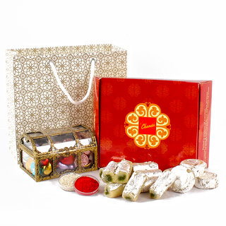 Chocolates with Assorted Sweets Bhai Dhooj Combo