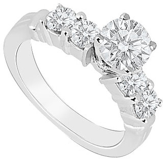 Splendid With 14K White Gold Diamond Engagement Ring