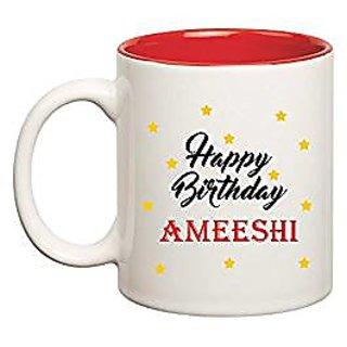 Huppme Happy Birthday Ameeshi Inner Red Mug
