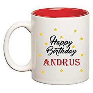Huppme Happy Birthday Andrus Inner Red Mug