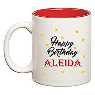 Huppme Happy Birthday Aleida Inner Red Mug
