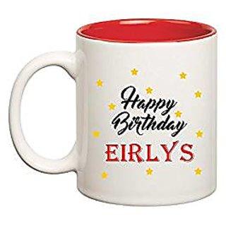 Huppme Happy Birthday Eirlys Inner Red Mug