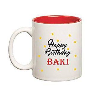 Huppme Happy Birthday Baki Inner Red Mug