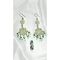 New Set Fancy Stone Earring With Free Ring