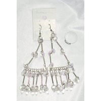 New Set Fancy  Earring With Free Ring