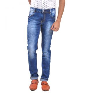 LOBSTAR  Blue Mid Super Skinny Jeans