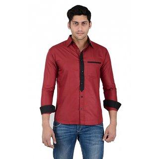 Maroon Designer Shirt