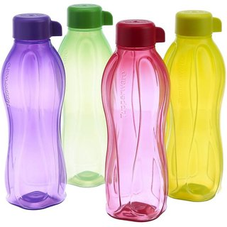 Tupperware Aquasafe 1000 ml Water Bottles  (Set of 4, Multi Colour)