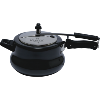 Knox HARD ANODIZED PRESSURE COOKER MATKI WITH SS LID (Black)