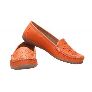 CATBIRD Orange Stylish Loafer For Women 605