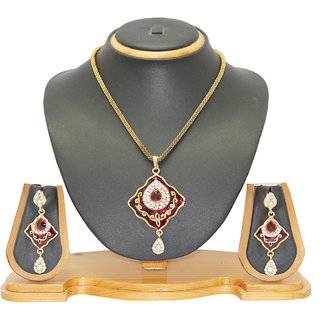 Soni Art Jewellery Meena Pendant Set Jewellery 0107C