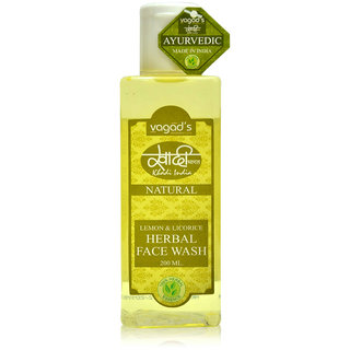 Khadi Vagad's Lemon  Licorice Herbal Face Wash 200ml