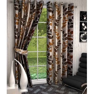 Home Luxurious 2 Piece New Premium Designer Curtains ( Size - Length 7Ft Width 4ft )