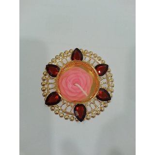 Beautiful Designer Floating Diya in Royal Red
