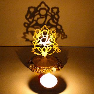 Exclusive Shadow Diya Tealight Candle Holder of Removable Goddess Lakshmi