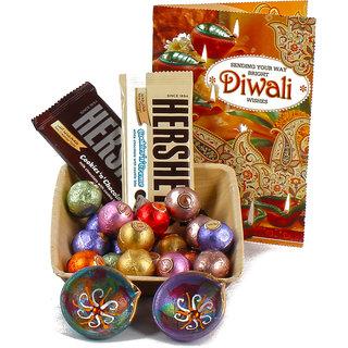 Exotic Chocolates with Traditional Diya Combo