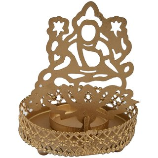 Soleil IndiaTealight Candle Holder - Laxmi Is an Add on for Your Prayer Table, Side Table Decoration, Diwali Gift, Corp