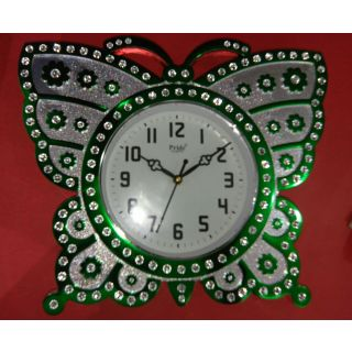 Butterfly rectangular Clock