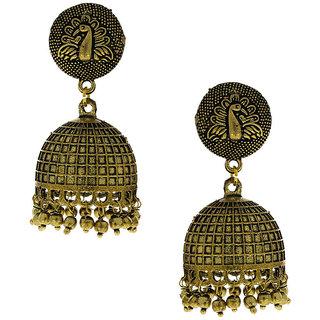 Anuradha Art Antique Golden Finish Very Classy Designer Jhumki Earrings For Women/Girls
