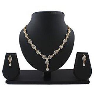 Anuradha Art Golden Finish Very Classy Designer Stylish Necklace Set For Women/Girls