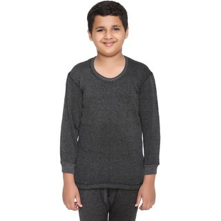 Vimal Winter Cover Blended Black Thermal Top For Boys