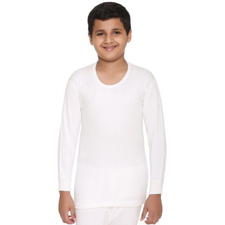Vimal Winter King Blended White Thermal Top For Boys