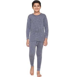 Vimal Winter King Blended Navy Thermal Top & Pyjama Set For Boys