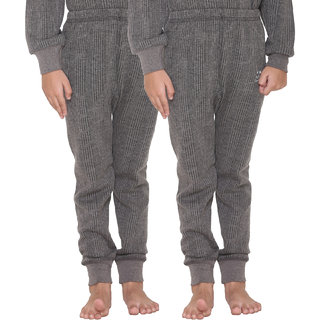 Vimal Premium Blended Grey Thermal Lower For Girls(Pack Of 2)