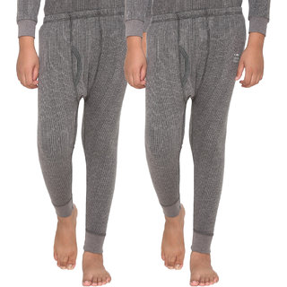 Vimal Premium Blended Grey Thermal Lower For Boys(Pack Of 2)