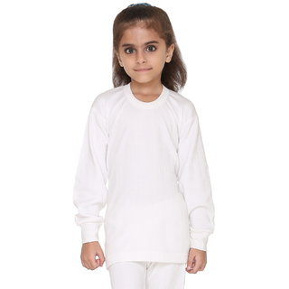 Vimal Premium Blended White Thermal Top For Girls