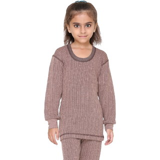 Vimal Premium Blended Brown Thermal Top For Girls
