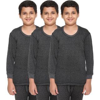 Vimal Premium Blended Black Thermal Top For Boys(Pack Of 3)