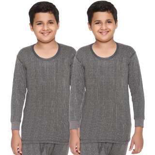 Vimal Premium Blended Grey Thermal Top For Boys(Pack Of 2)
