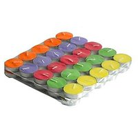 Jain Store Multicolour Tea Light Candle Pack Of 50 For All Occassion