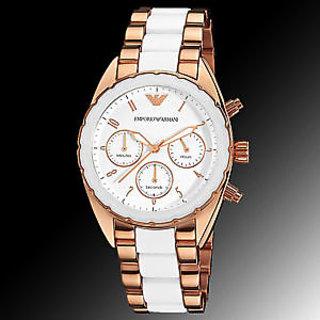 Emporio Armani Women's AR5942 Sport Silver Chronograph Dial Watch