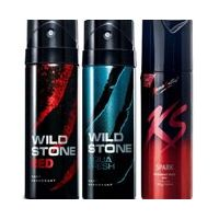 Super Crazy Combo - KAMASUTRA, WILDSTONE AQUA, and WILDSTONE RED (Set of 3 pcs)-150 ml each