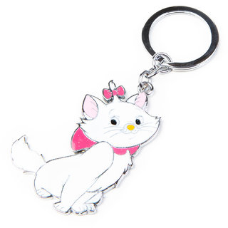 Adorable cat keychain (White) By Daffodils ( Pack Of 2 )