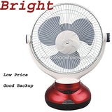New Bright Rechargeable Table Fan 12 inches high speed with LED Light
