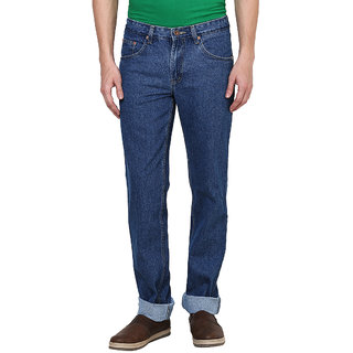 British Cross Blue Regular Fit Jeans for Men