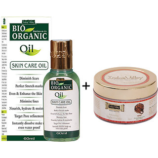 Indus Valley Bio Organic Skin Care Oil and Hydrating Night Cream Combo Pack