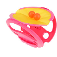 Magideal Catch The Ball Racket With Ball Outdoor Sports Kids Summer Beach Game - Red