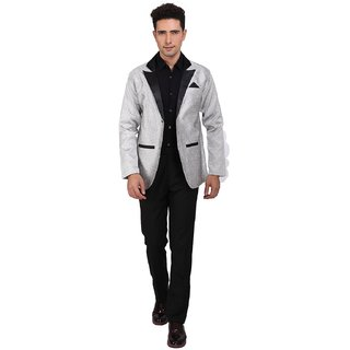Nu Abc Silver Blazer For Mens