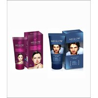 MEGLOW WHITENING FACE CREAM 4 Men & MEGLOW FAIRNESS CREAM 4 Women Combo Pack