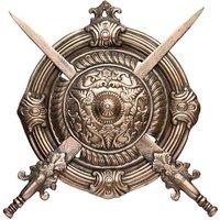 unitedSamurai Dhal Talwar Showpiece - 35 cm (aluminium,alloy,copper,brown)