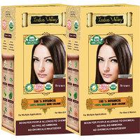 Indus Valley 100 Organic Botanical Brown Herbal Hair Color - Set Of 2