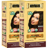 Indus Valley 100 Organic Botanical Dark Brown Hair Color - Twin Pack